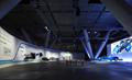 『自動車コーナー』 低炭素社会の実現に向けた東レの先端技術を次世代コンセプトカー「TEEWAVE」を主にデモンストレーション。<br> ワイド8mのLEDスクリーンに走行シーンやCGによる説明映像を上映、先端材料による関連部品も合わせて展示しました。