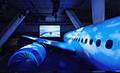■空と宇宙の先へ挑む<br>イプシロンロケットやボーイング787の大型模型を制作するとともに、そこに使われている炭素繊維のメリットを訴求する<br>現場インタビュー映像を組み合わせたスケール豊かな展示を実現しました。