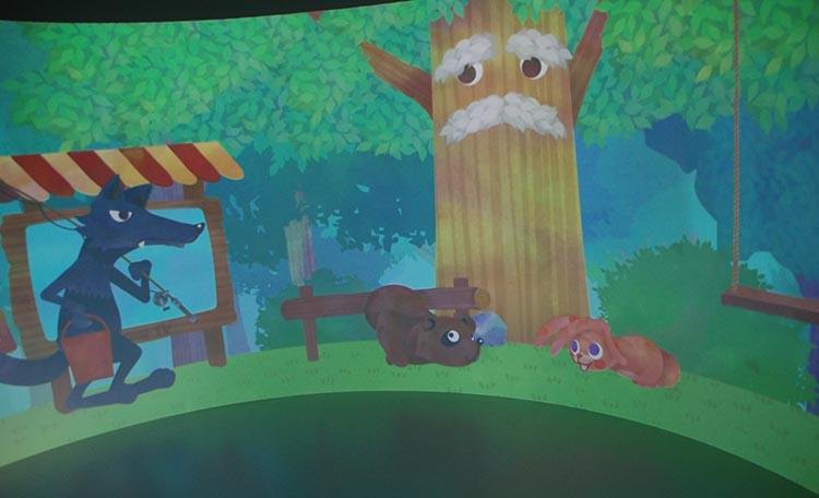 『スイッチングシアター』子ども向けコンテンツ。どうぶつの森を舞台に、災害に備えることや一緒に協力する大切さを子どもたちに楽しく学んでもらうコンテンツ。