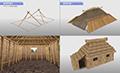 私たちのくらし 〜白老のチセ<br>アイヌ民族の家屋=チセがどのようにして建てられるのかをリアルなCGで再現したコンテンツです。